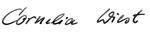 Unterschrift Cornelia Wiest